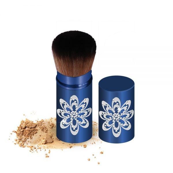 Modrý kozmetický štetec
